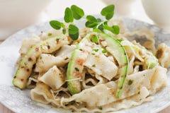 Zucchini pasta Stock Image