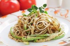 Zucchini pasta Stock Images