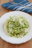 Zucchini Pasta with pesto Royalty Free Stock Photo