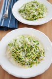 Zucchini Pasta with pesto Stock Images