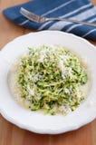 Zucchini Pasta with pesto Royalty Free Stock Image