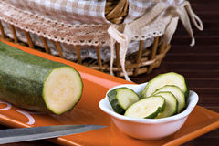 Zucchini (pepo del Cucurbita) Immagine Stock