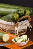 Zucchini (pepo del Cucurbita) Immagini Stock Libere da Diritti