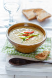 Zucchini-Pepper-Soup Royalty Free Stock Photography
