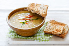 Zucchini-Pepper-Soup Stock Photos