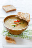 Zucchini-Pepper-Soup Royalty Free Stock Photo