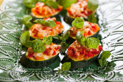 Zucchini, Pepper and Tomato gratin Royalty Free Stock Photo