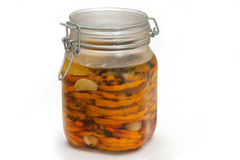 Zucchini pickle jar Royalty Free Stock Photography