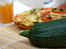 Zucchini Pie Stock Images