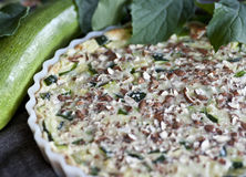 Zucchini pie with almond Royalty Free Stock Images