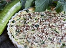 Zucchini pie with almond. Sweet and tasty zucchini pie with almond Royalty Free Stock Images
