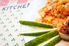 Zucchini plate detail Stock Photo