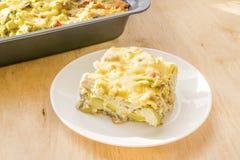Zucchini potrawka Żywienioniowy, niskokaloryczny sprawności fizycznej jedzenie, Domowy Cass obraz royalty free