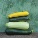 Zucchini quattro fotografia stock