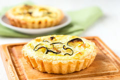 Zucchini quiche Royalty Free Stock Images