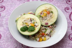 Zucchini with rice Stock Images