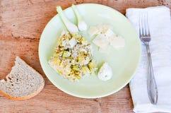 Zucchini risotto Zdjęcie Stock