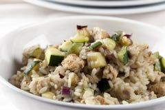 Zucchini Risotto Dinner Stock Image