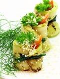 Zucchini rolls Stock Photos