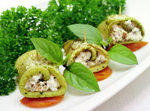 Zucchini rolls Royalty Free Stock Photos