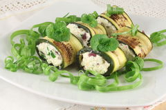 Zucchini rolls Royalty Free Stock Images