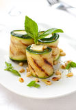 Zucchini rolls with cheese Stock Images