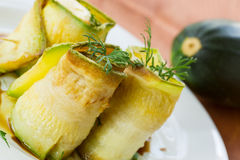Zucchini rolls with fillings Stock Photography