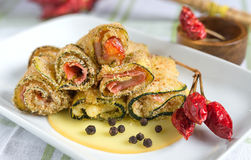 Zucchini rolls gratinated Royalty Free Stock Photography
