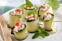 Zucchini rolls Stock Images