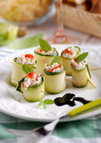 Zucchini rolls Stock Photo