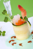 Zucchini Rolls with smoked salmon Stock Image