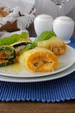 Zucchini rolls stuffed with cheese Stock Photography