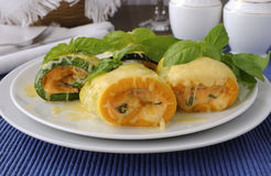 Zucchini rolls stuffed with cheese Royalty Free Stock Photography