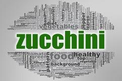 Zucchini słowa chmura Zdjęcie Stock