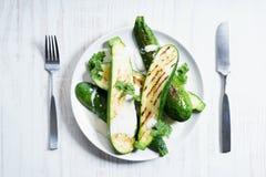 Zucchini sałatka Zdjęcia Stock