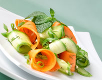 Zucchini salad with carrots Royalty Free Stock Photos