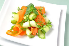 Zucchini salad with carrots Royalty Free Stock Photo