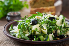 Zucchini salad with feta royalty free stock photos