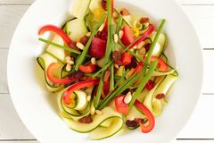 Zucchini salad Royalty Free Stock Photography