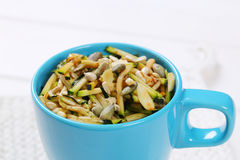 Zucchini salad with seeds Royalty Free Stock Photos