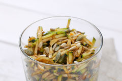 Zucchini salad with seeds Stock Photo