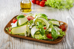 Zucchini salad with tomatoes Royalty Free Stock Photography