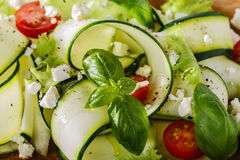 Zucchini salad with tomatoes Royalty Free Stock Images