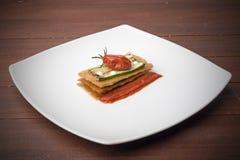 Zucchini sandwich Royalty Free Stock Photos