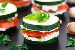 Zucchini sandwich Royalty Free Stock Photography