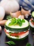 Zucchini sandwich Stock Images