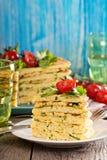 Zucchini savory layered cake Royalty Free Stock Photos