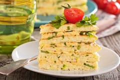 Zucchini savory layered cake Stock Image