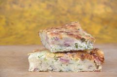 Zucchini slice Stock Image