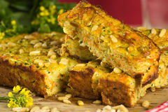 Zucchini slice Stock Photo